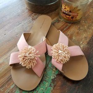 J. Crew Slide Pompom Sandals